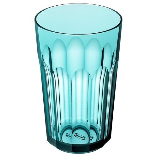 SVARTSJÖN pohár tyrkysová 12 cm 270 ml