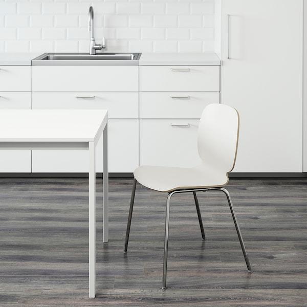 SVENBERTIL stolička biela/Broringe pochrómované 110 kg 52 cm 50 cm 84 cm 45 cm 42 cm 46 cm