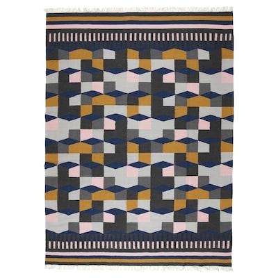 TÅRBÄK Koberec, hladko tkaný, vyrobené ručne/viacfarebný, 170x240 cm