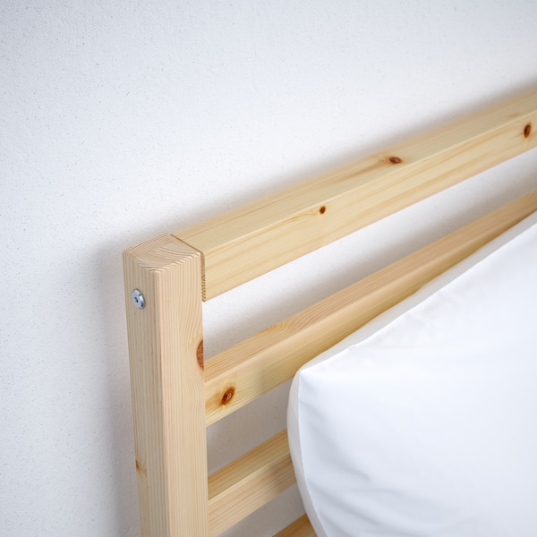 TARVA Rám postele, borovica/Lönset, 140x200 cm