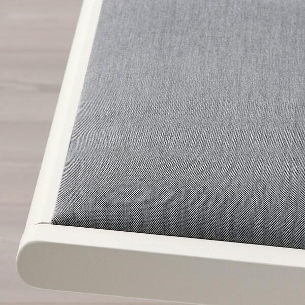 TERJE Skladacia stolička, biela/Knisa svetlosivá