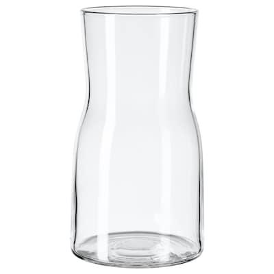 TIDVATTEN Váza, číre sklo, 17 cm
