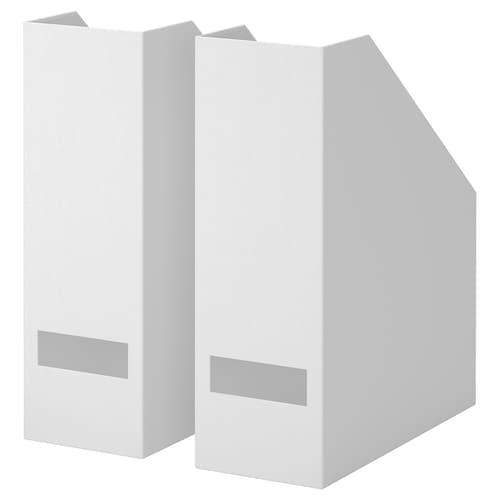 TJENA stojan na časopisy biela 10 cm 25 cm 30 cm 2 ks