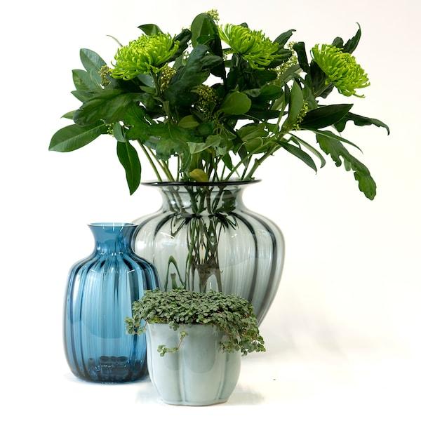 TONSÄTTA váza modrá 21 cm