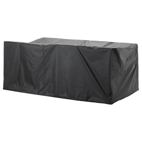 TOSTERÖ poťah na záhradný nábytok súprava na stolovanie/čierna 260 cm 148 cm 108 cm