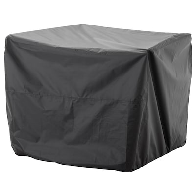 TOSTERÖ Poťah na záhradný nábytok, pohovka/čierna, 109x85 cm