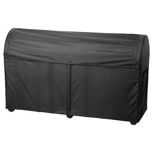 TOSTERÖ úložná škatuľa, vonkajšia čierna 129 cm 44 cm 79 cm