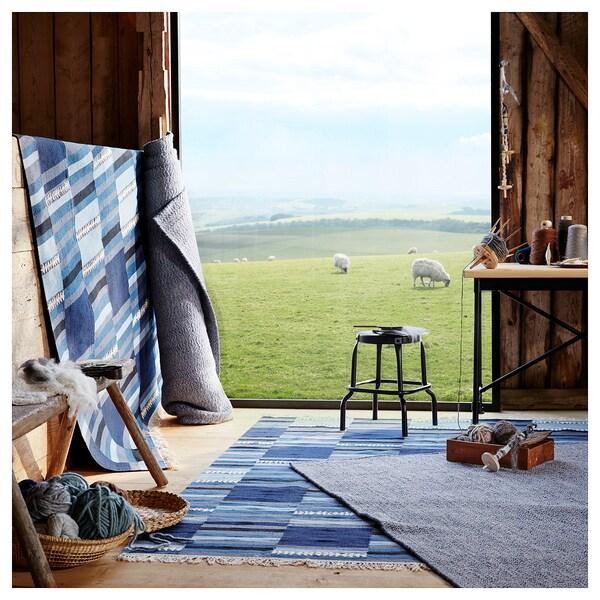 TRANGET Koberec, hladko tkaný, vyrobené ručne rôzne odtiene modrej, 170x240 cm