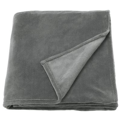 TRATTVIVA Posteľná prikrývka, sivá, 150x250 cm