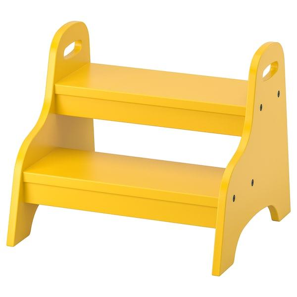 TROGEN Detské schodíky, žltá, 40x38x33 cm
