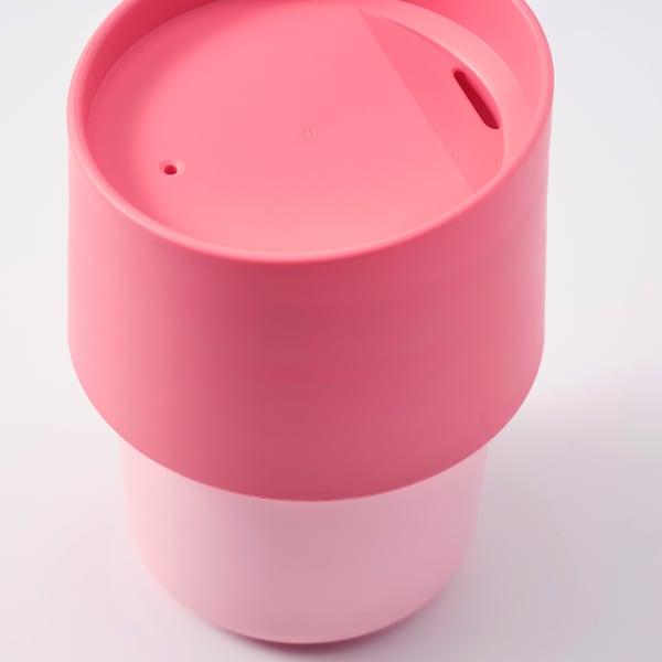 TROLIGTVIS Cestovný hrnček, ružová, 0.3 l