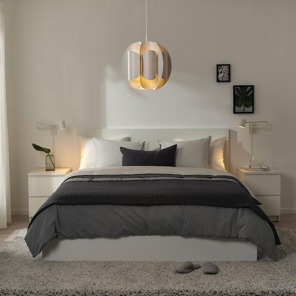 TRUBBNATE Tienidlo na závesnú lampu, biela, 38 cm