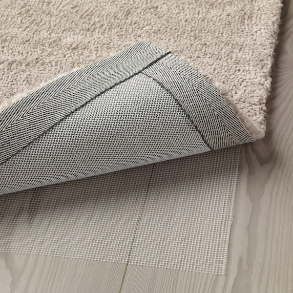 TYVELSE koberec, nízky vlas krémová 240 cm 170 cm 14 mm 4.08 m² 3000 g/m² 1880 g/m² 13 mm