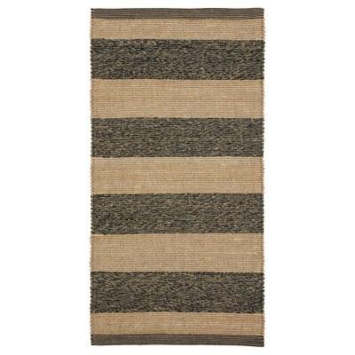 UGILT Koberec, hladko tkaný, čierna/béžová, 80x150 cm