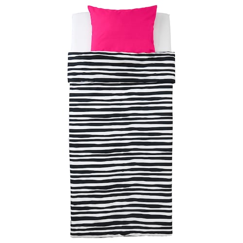 URSKOG posteľné obliečky zebra/prúžkovaný 200 cm 150 cm 50 cm 60 cm