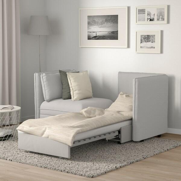 VALLENTUNA 2-m mod pohovka s rozkl posteľov a úložný priestor/Orrsta svetlosivá 186 cm 113 cm 84 cm 80 cm 100 cm 45 cm 80 cm 200 cm