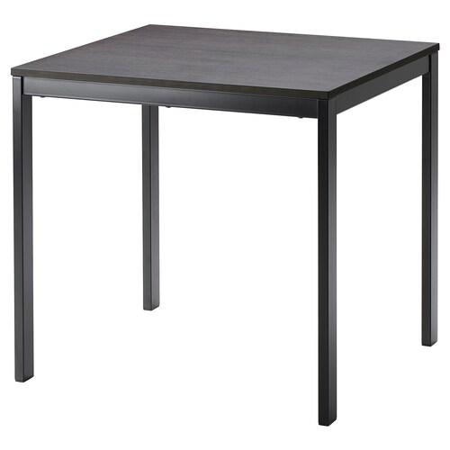 VANGSTA rozkladací stôl čierna/tmavohnedá 80 cm 120 cm 70 cm 75 cm