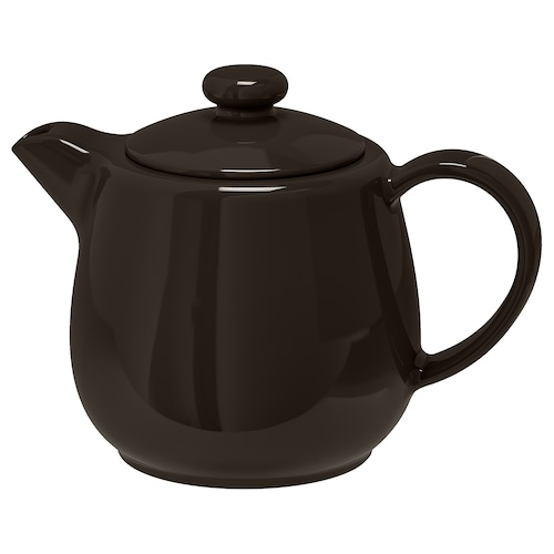 VARDAGEN kanvica na čaj tmavosivá 15 cm 1.2 l
