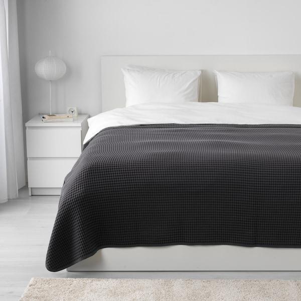 VÅRELD posteľná prikrývka tmavosivá 250 cm 230 cm