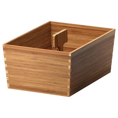VARIERA škatuľa s úchytkou bambus 33 cm 24 cm 16 cm