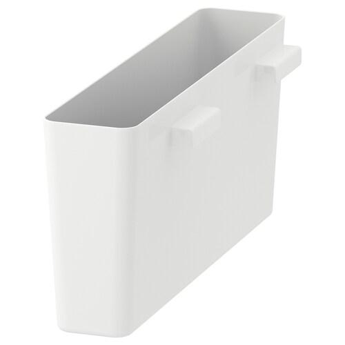VARIERA úložná škatuľa lesklá/biela 50 cm 12 cm 22 cm