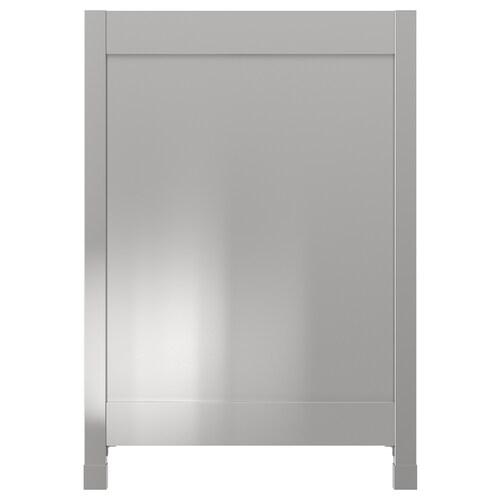 VÅRSTA krycí panel s nohami nehrdzavejúca oceľ 62 cm 88 cm 4 cm