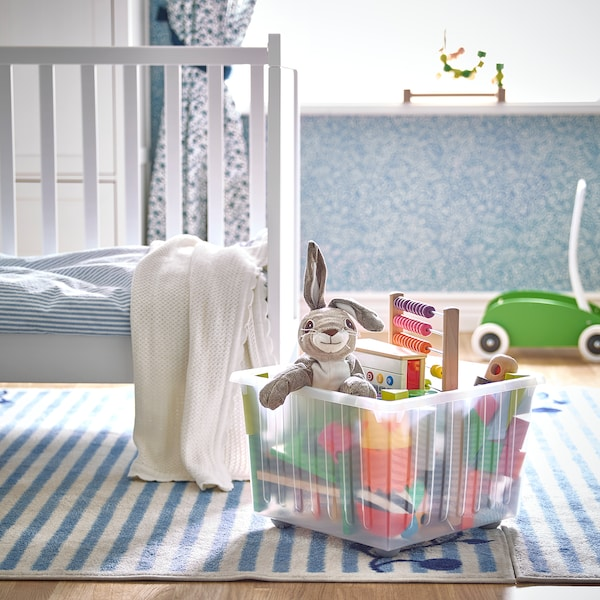 VESSLA Škatuľa/kolieska, biela, 39x39 cm