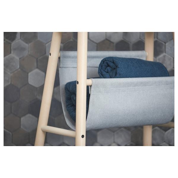 VILTO Stolík s úložným priestorom, breza, 45 cm