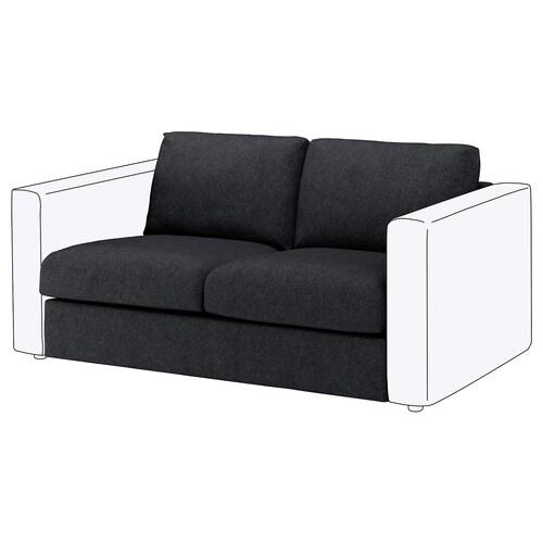 VIMLE 2-miestny sedací diel Tallmyra čierna/sivá 80 cm 66 cm 141 cm 98 cm 4 cm 141 cm 55 cm 45 cm