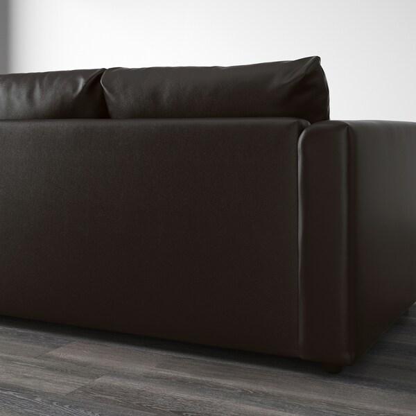 VIMLE 2-pohovka Farsta čierna 80 cm 65 cm 171 cm 98 cm 4 cm 15 cm 65 cm 141 cm 55 cm 45 cm