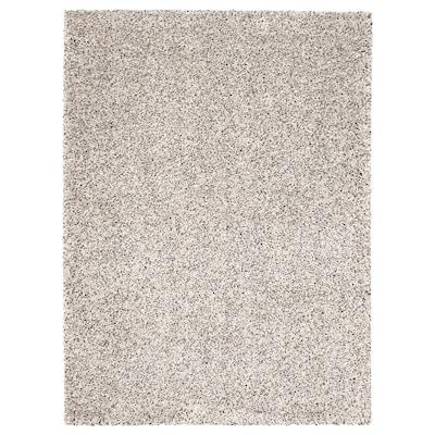 VINDUM Koberec, vysoký vlas, biela, 170x230 cm