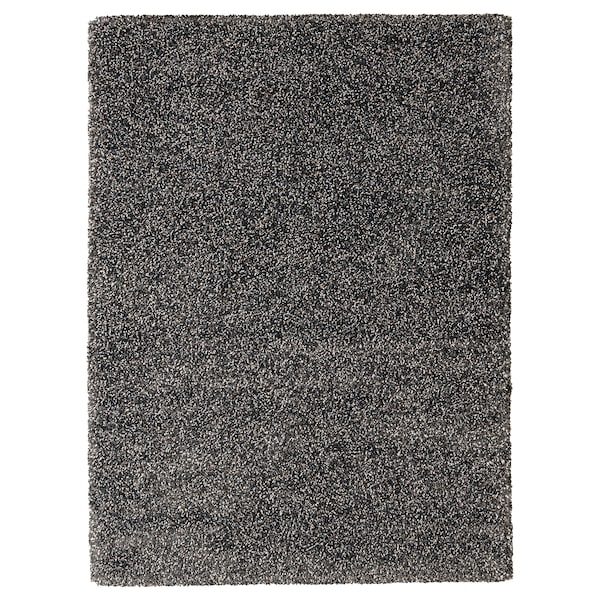VINDUM Koberec, vysoký vlas, tmavosivá, 170x230 cm
