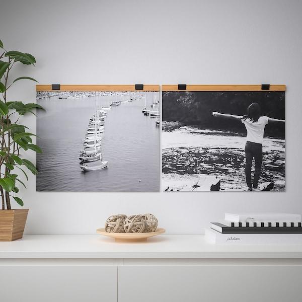 VISBÄCK Držiak na plagát, bambus, 61 cm