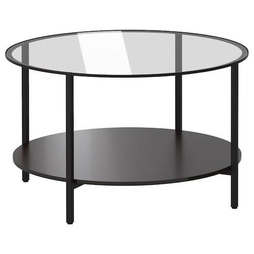 VITTSJÖ konferenčný stolík čierno-hnedá/sklo 45 cm 75 cm