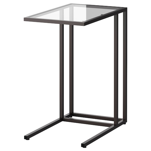 VITTSJÖ stojan na laptop čierno-hnedá/sklo 35 cm 55 cm 65 cm 15 kg