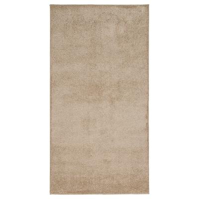 VONGE Koberec, vysoký vlas, béžová, 78x150 cm