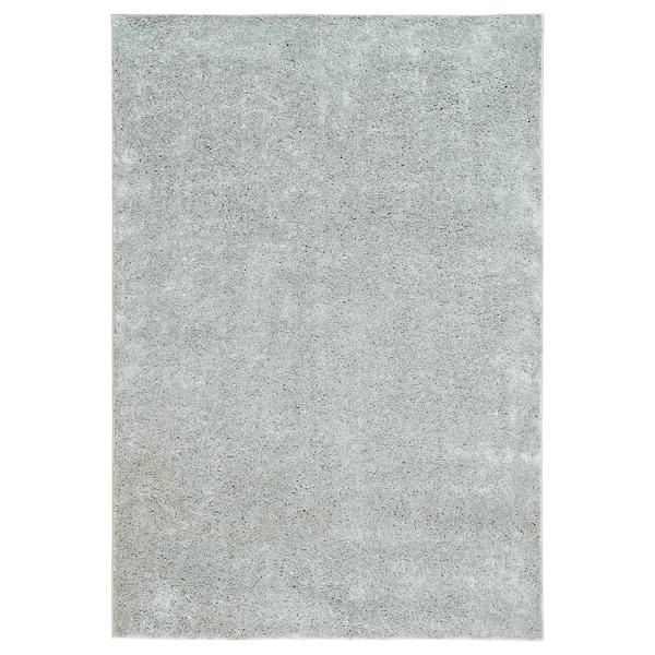 VONGE Koberec, vysoký vlas, svetlosivá, 133x195 cm