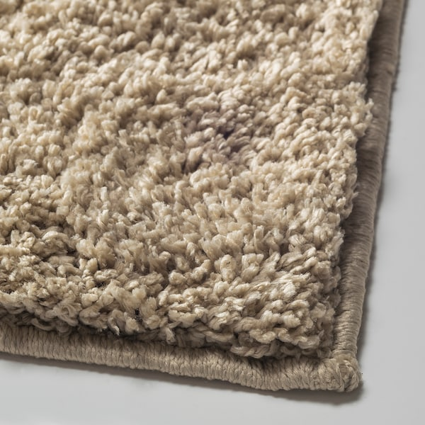 VONGE koberec, vysoký vlas béžová 80 cm 80 cm 0.64 m²