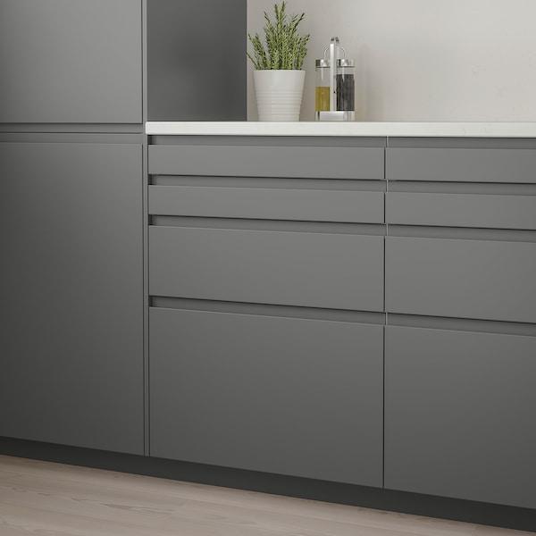 VOXTORP Čelo zásuvky, tmavosivá, 80x20 cm