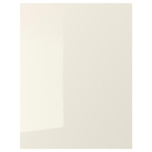 VOXTORP krycí panel lesklá svetlobéžová 61.5 cm 80.0 cm 1.4 cm