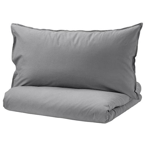 ÄNGSLILJA quilt cover and 2 pillowcases grey 125 /inch² 2 pieces 200 cm 150 cm 50 cm 80 cm