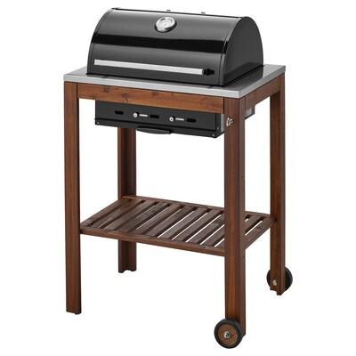 ÄPPLARÖ / KLASEN Charcoal barbecue, brown stained