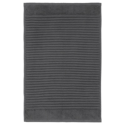 ALSTERN Bath mat, dark grey, 40x60 cm