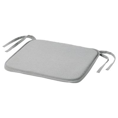 ASKNÄTFJÄRIL Chair pad, grey, 34x34x1.5 cm