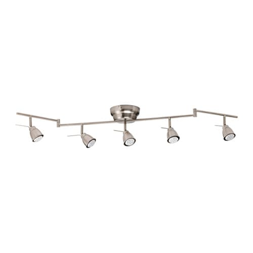BAROMETER Ceiling track, 5-spots   You can easily direct the light where you want it because the arms and spots are adjustable.
