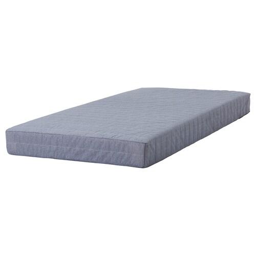 BEITO sprung mattress light grey 200 cm 90 cm 17 cm