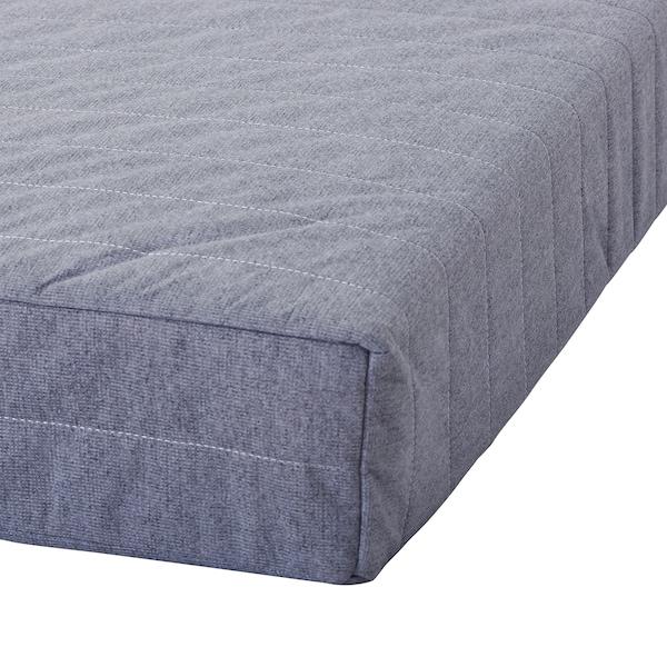 BEITO sprung mattress light grey 200 cm 150 cm 17 cm
