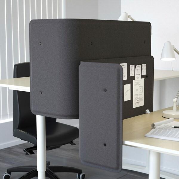 BEKANT Screen for desk, grey, 55 cm