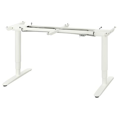 BEKANT Underframe sit/stand f table tp, el, white, 160x80 cm