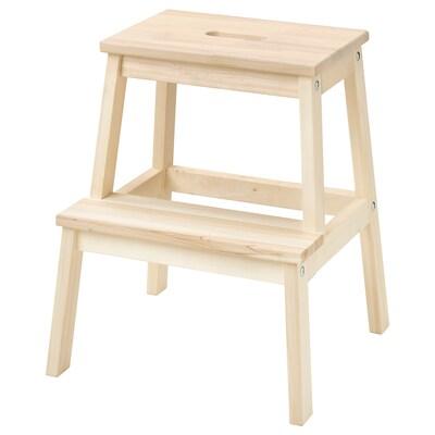 BEKVÄM Step stool, aspen, 50 cm